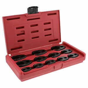 Abn Jumbo Crowfoot Flare Nut Wrench Sae Set 3 8 1 2 Drive Ratchet 12 Pieces