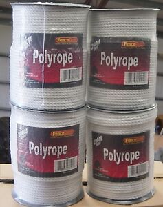 4 Rolls 1 4 Horse Polyrope 656 Electric Fence White