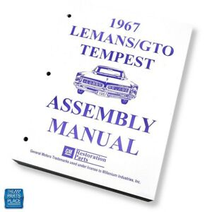1967 Lemans Gto Grand Prix Factory Gm Assembly Manual Each