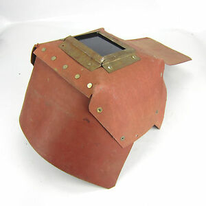 Vintage Welding Mask Shield Hood Helmet Cardboard Great Decoration Steampunk 65