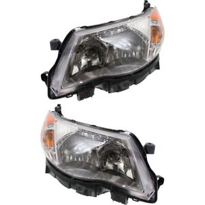 Headlight Set For 2009 2013 Subaru Forester Left And Right With Bulb 2pc
