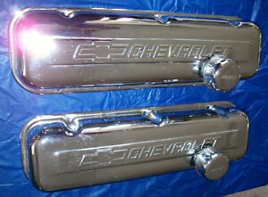 Genuine Gm Performance Parts Big Block Chevrolet Tall Chrome Valve Covers Used