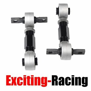 Suspension Rear Camber Adjustable Kit Powder Coated For Civic Integra Crx Black