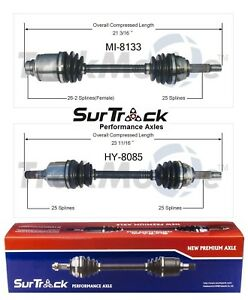 Mitsubishi Mirage Dodge Plymouth Colt Pair Of Front Cv Axle Shafts Surtrack Set
