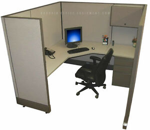 6x6 X67 H Refurbished Herman Miller Cubicle Work Stations New Paint Fabric