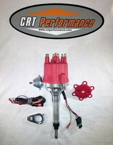 Chevy Straight 6 194 216 235 Small Cap Pro Series Hei Distributor Red