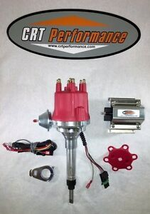 Small Cap Chevy Straight 6 I6 194 216 235 Hei Distributor 60k Coil Red
