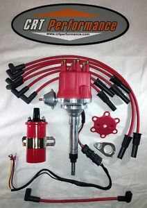 Chevy Inline 6 Cylinder 235 Red Small Cap Hei Distributor 45k Coil 8mm Wires