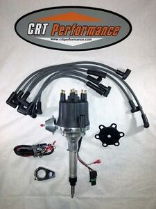 Small Cap Chevy Inline 6 Cylinder 235 Black Hei Distributor Spark Plug Wires