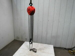 Cm Model M 1 Ton Manual Chain Fall Hoist 8 Lift W load Limiter Tested