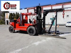 2012 Riggers Special Rs 50 50 000lb Forklift W Boom Propane Only 106 Hours