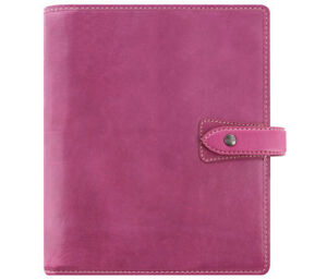 Filofax Malden Fuchsia A5 Organizer Leather With Snap Closure