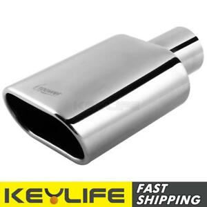 Upower New Square Weld On Car Exhaust Tip 2 25 Inlet 5 5 X 3 Outlet 9 Long