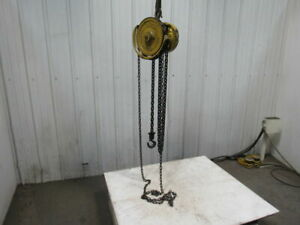 Yale Model B b Spur Gear 1 Ton Manual Chain Fall Hoist 8 Lift Load Tested