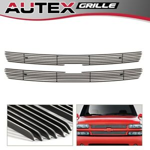 For 99 02 Silverado 1500 00 06 Suburban tahoe Chrome Upper Billet Grille Grill
