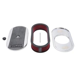 Edelbrock Air Cleaner Assembly 4273 Elite 2 Series Polished Aluminum Oval 2 5