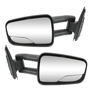 New Set Of 2 Towing Mirrors Driver Passenger Side For Chevy Avalanche Pair
