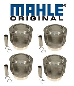 For Porsche 356sc 912 1 6 H4 Set Of 4 Engine Pistons Cylinders W Rings Oem