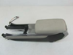 08 Cadillac Cts Grey Silver Center Front Console Leather Arm Rest Floor At