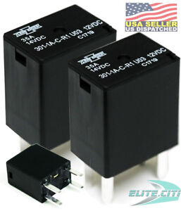 Song Chuan 301 1a c r1 u03 12vdc Micro 280 Spst 35a Relay Pack Of 2