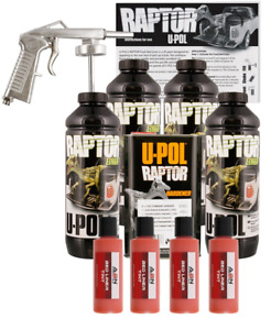 U pol Raptor Tintable Safety Orange Bedliner Kit W Spray Gun 4l Upol