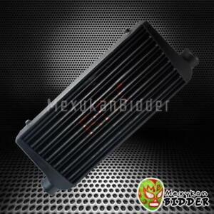 Black Aluminum Front Mount Intercooler Fmic 31 X 12 X3 Inlet outlet 3