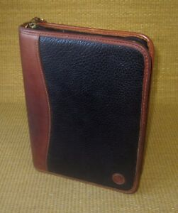 Classic 1 125 Rings Black brown Leather Franklin Covey Zip Planner binder