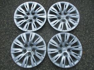 Genuine 2010 To 2015 Toyota Camry Matrix Sienna 16 Inch Hubcaps Wheel Covers Set
