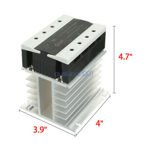 Ac 90 250v To Ac 40 440v Ssr Aa Solid State Relay Heat Sink 3 Phase 10 25 40 80a