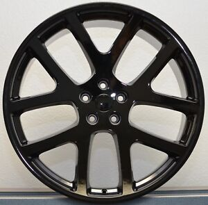 4 22 Staggered Viper Gloss Black 300c Challenger Charger Magnum Wheels Rims