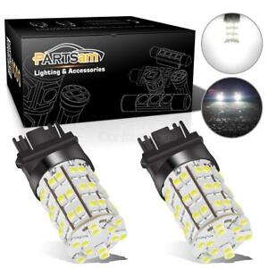 2x Backup Xenon White Led Bulbs Reverse Light 60 Smd 3156 3157 4057 4157