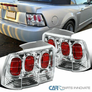 For 99 04 Ford Mustang Clear Parking Tail Lights Rear Brake Reverse Lamps Pair