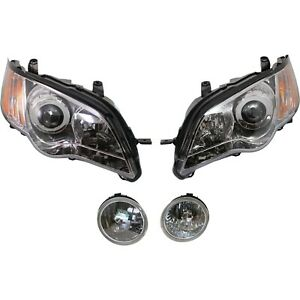 Headlight Kit For 2008 2009 Subaru Outback Left And Right 4pc