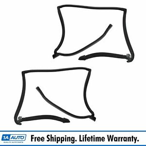 T top Roof Weatherstrip Rubber Seal Pair For Pontiac Buick Chevy Oldsmobile
