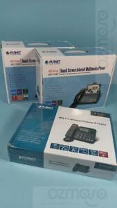 Lot Planet 7 Touch Screen Video Conferencing Multimedia Phones 4 Lines Icf 1700