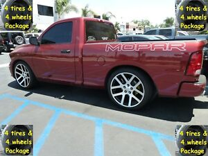 20 Dodge Ram Srt10 Style Tires Package Wheels Rims Machined Fits For 02 18