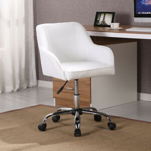 Modern Office Chair Task Desk Adjustable Swivel Height W wheels Velvet