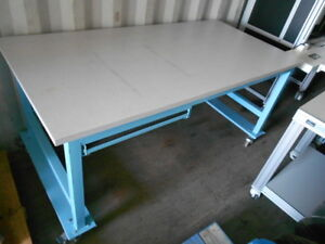 36 X 72 X 34 5 Tall Laminated Top Lab Work Table bench On Castors With Drawer