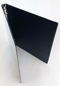Lot Of Two 1 2 3 Ring Binder Black Home School Office 2 Pocket Clear Overlay