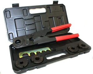 5 In 1 Pex Crimper Kit 3 8 1 2 5 8 3 4 1 Crimping Plumbing Copper Ring Tool