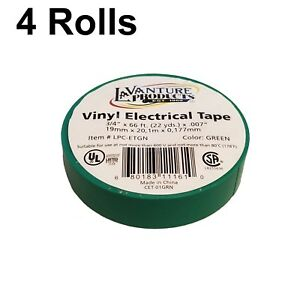 4 Rolls Of Green Electrical Tape 3 4 X 66ft Trailer Rv Wires Lavanture
