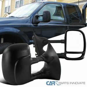 99 07 Ford F250 F350 F450 F550 Super Duty Power Heated Extend Tow View Mirrors