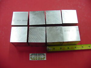 8 Pieces 2 X 2 X 2 Aluminum Square 6061 Flat Bar Solid T6511 New Mill Stock