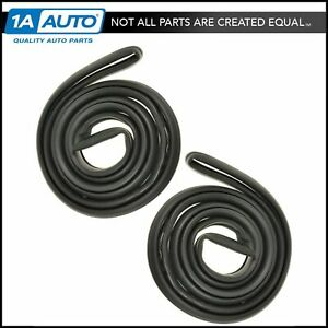 Door Seals Rubber Weatherstrip Pair Set New For Buick Pontiac Olds 2 Door Rwd