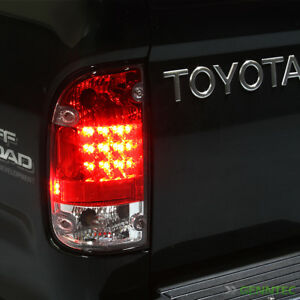 For 1995 2000 Toyota Tacoma Red clear Led Tail Lights Lamps Brand New L r