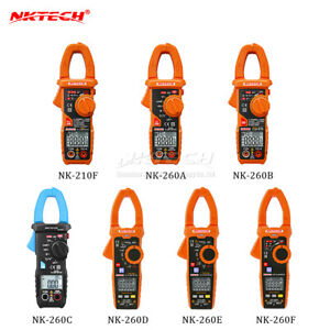Nktech Lcd Digital Clamp Meter Auto Range Voltmeter Ammeter Ohm Test Multimeter