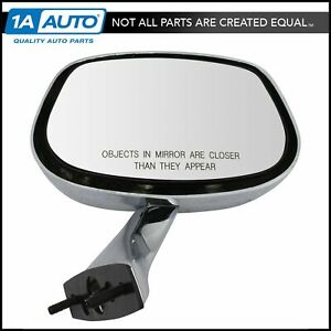 Manual Chrome Side View Mirror Passenger Right Rh For Buick Chevy Olds Pontiac