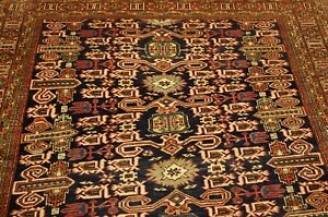 Circa 1930 S Antique Caucasian Shirvan Perpedil Rug 5 5x8 10 Vegetable Dye