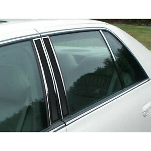 6pc Luxury Fx Pillar Post Trim For 2000 2005 Cadillac Deville Sedan