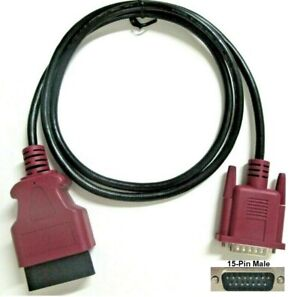 Purple Obdii Obd2 Cable For Nexiq Pro Link Pocket Iq Scanner Covers Volvo Mack